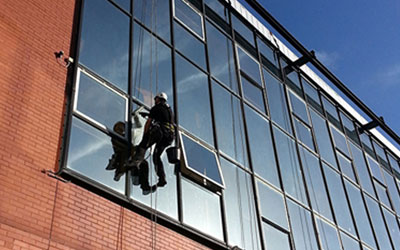 Building facade cleaning services Wales image